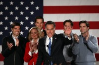 Mitt Romney and wife Ann with 4 of their 5 sons