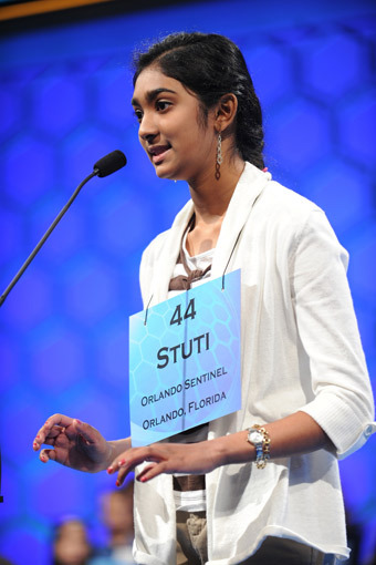2nd-Placer Stuti Mishra of Florida in 2012 U.S. National Spelling Bee