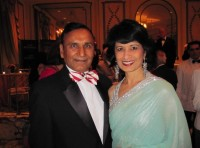 Renu Khator with her husband Suresh Khator, associate dean of international programs in the Cullen College of Engineering at the University of Houston