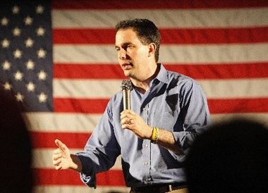 Fox News Projects Wisconsin Republican Governor Scott Walker Will Survive Recall Election Called by Union Leaders and Retain His Position