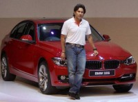 Sachin Tendulkar at the launch of BMW 3 series in Mumbai