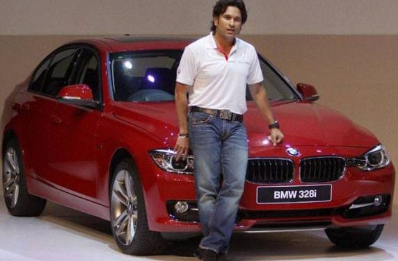 Sachin Tendulkar Helps Launch BMW 3 Series Cars