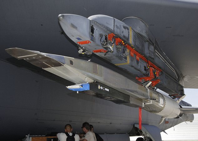 London to NY - The experimental craft will be tested strapped to the wing of a B-52 bomber.