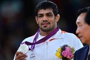 Sushil Kumar Wins Silver Medal in Wrestling