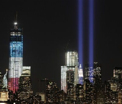 We Will Never Forget: Incredible Picture to Show World Trade Center Tribute Lighting Up Night Sky