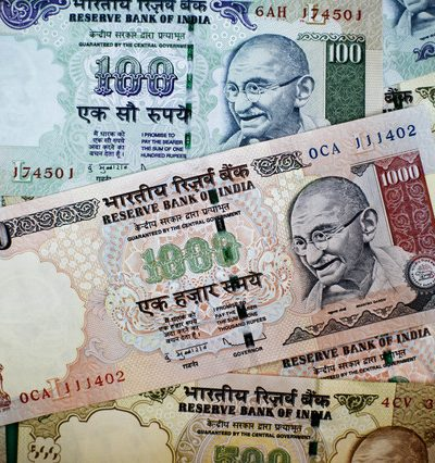 Indian Rupee Sinks to Record New Low  Of Rs. 58.77 to the U.S. Dollar