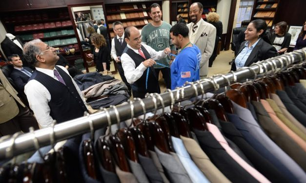 """Tailor-To-The-Stars"" Presents $50,000 Worth of Overcoats, Suits, Jackets to the Doe Fund"