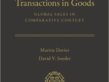 Book Review: International Transactions in Goods: Global Sales in Comparative Context