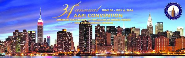 34th AAPI Convention in NYC - June 30-July4, 2016