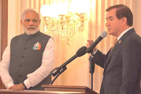 Prime Minister Modi and Chairman Ed Royce of HFAC