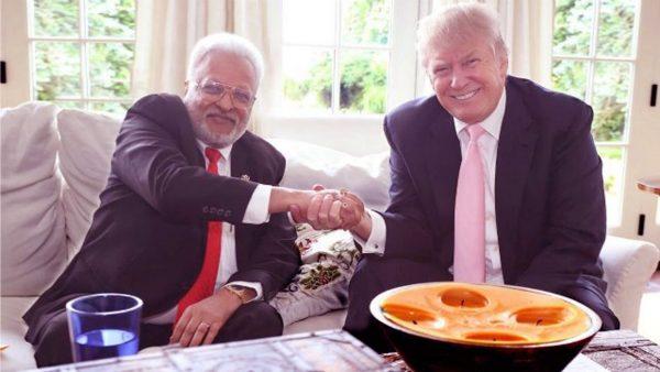 Shallabh Kumar meets with Donald Trump - credit Shallabh Kumar (Twitter)