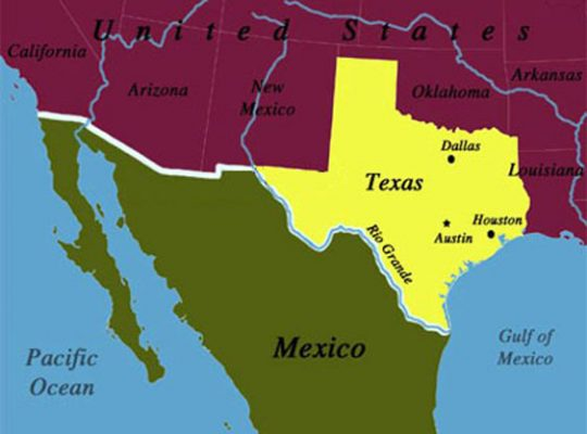 Texas-Mexico map, credit SMU