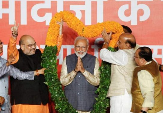 Modi Dedicates Victory to Indians