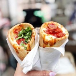 Pizza, but portable: cones just work better than sloppy, floppy slices