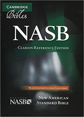 Book Review – New American Standard Bible (NASB) – Clarion Reference Edition,  Black Goatskin Leather, Edge-Lined